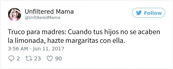 consejo para madres tomar margaritas