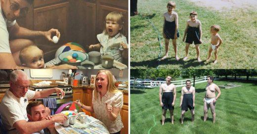 Cover Familias que recrearon sus fotos más bochornosas