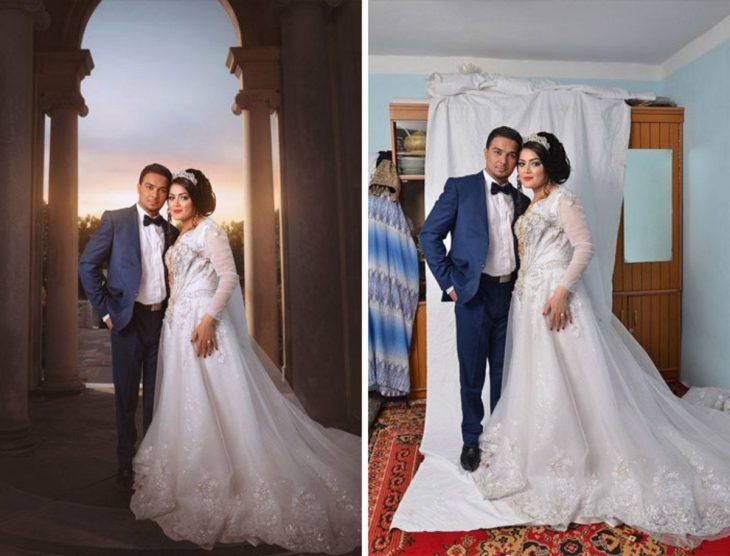 montaje de foto de boda