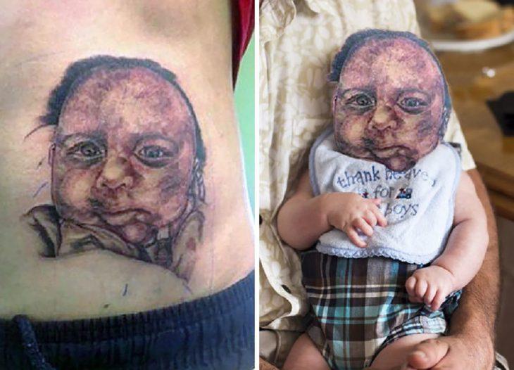 tatuaje feo de un bebé