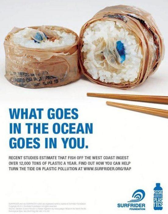sushi de bolsas de plástico