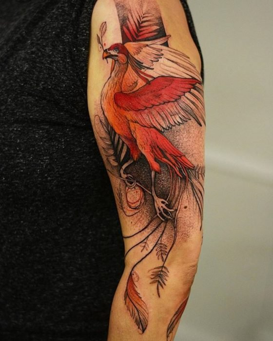tatuaje de un fenix