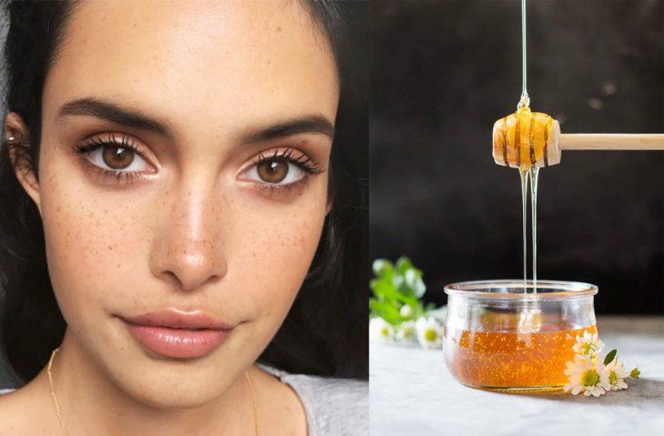 chica con piel bonita y miel