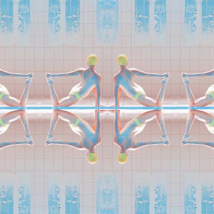 reflejos y geometría en nado sincronizado