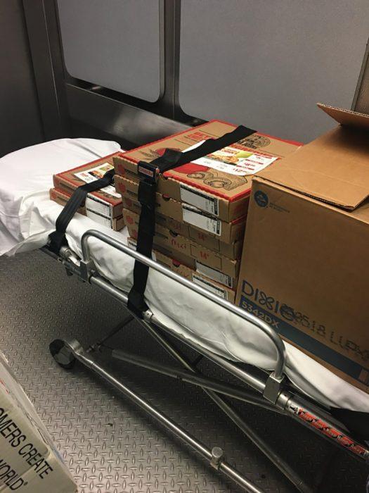 pizza en ambulancia