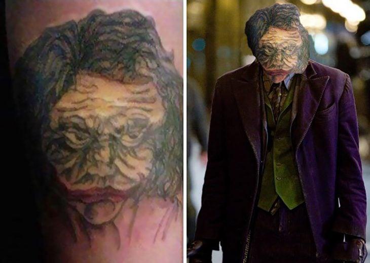 tatuaje mal hecho del guasón