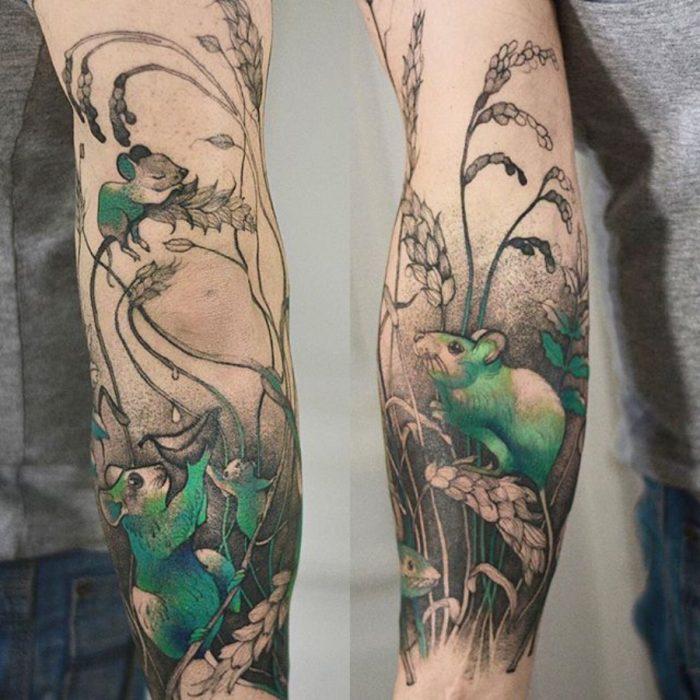 tatuaje de ratoncitos