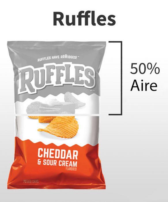 cantidad de aire en los Ruffles