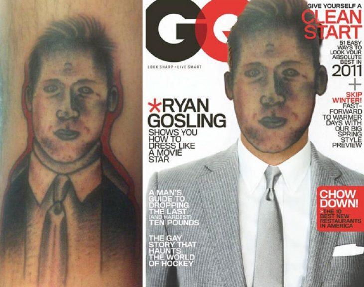 tatuaje mal hecho de Ryan Gosling