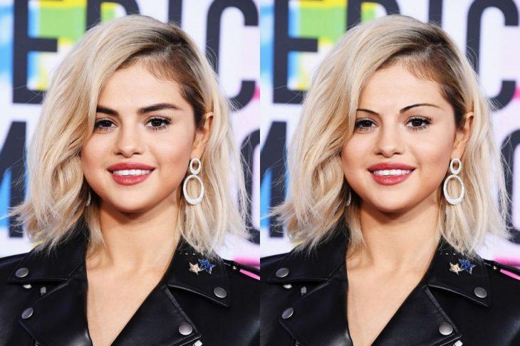 Selena Gomez con cejas de los 90