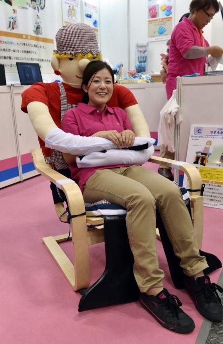 silla de abrazos japonesa