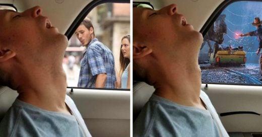 Cover Este hombre se durmió durante un viaje y su novia pidió en internet que lo photoshopearan