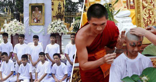 Cover Los niños tailandeses rescatados pretenden convertirse en monjes budistas