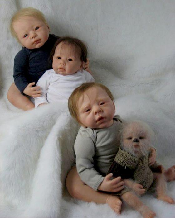 muñecos de trillizos reborn