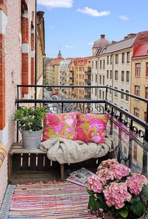 balconcito con una hermosa vista