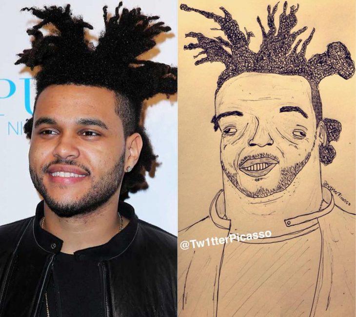 retrato feo de The Weeknd