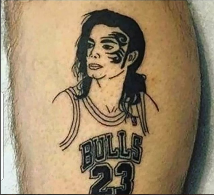 tatuaje de michael jackson como basquetbolista