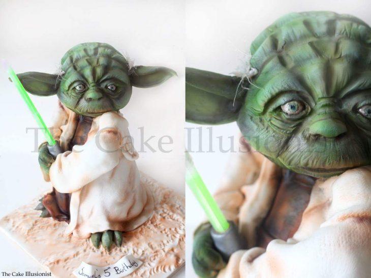 pastel de yoda
