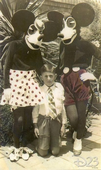 Mickey y Minnie en Disneyland en 1929