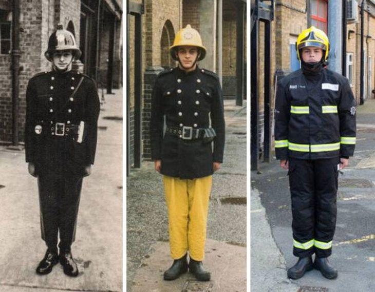 3 generaciones de bomberos