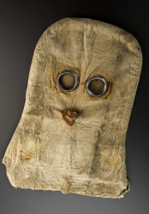 Máscara de gas utilizada durante la Primera Guerra Mundial