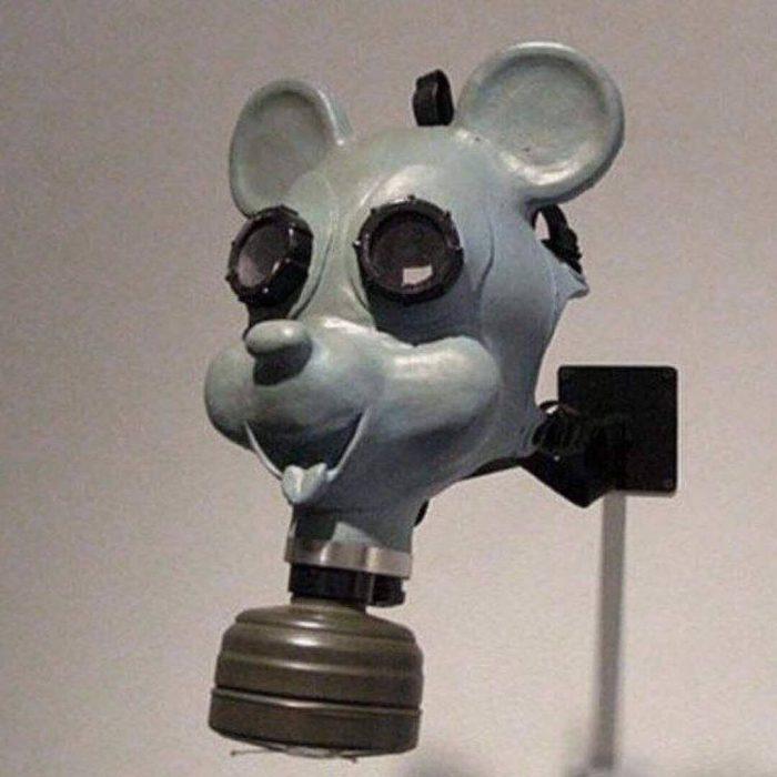 Máscara de gas para niños utilizada durante la Segunda Guerra Mundial