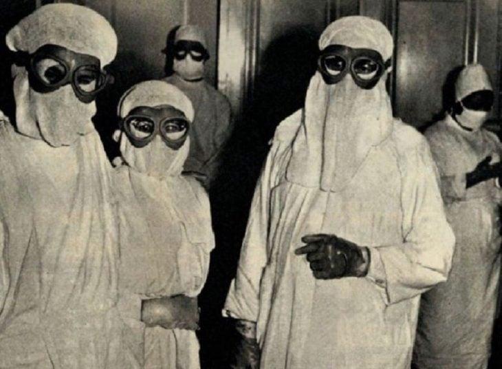 Ropa de protección médica, Polonia, 1963