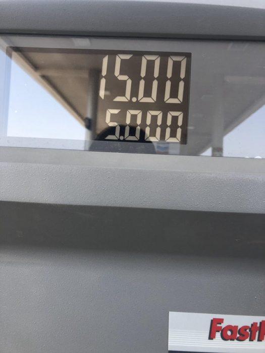 cobro de gasolina en número enteros