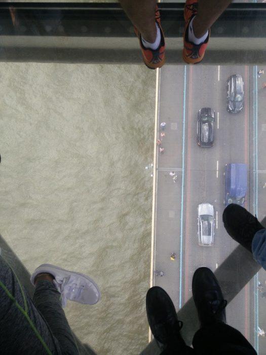 piso de vidrio