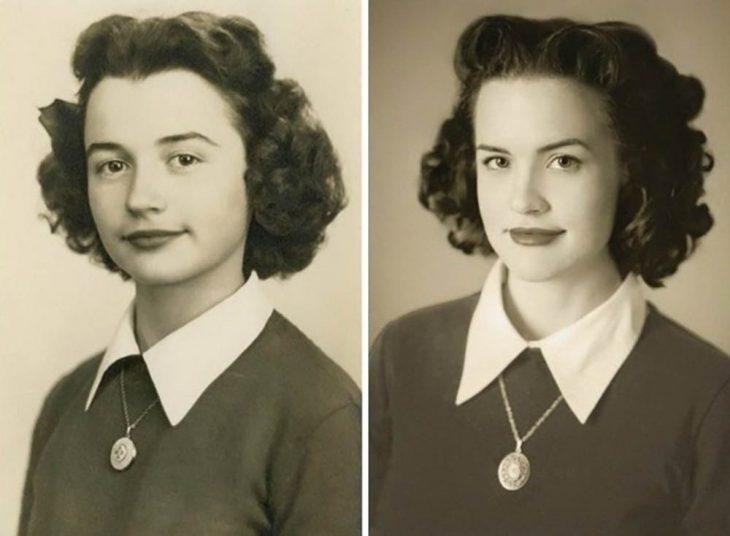 nieta recrea las fotos de su abuela