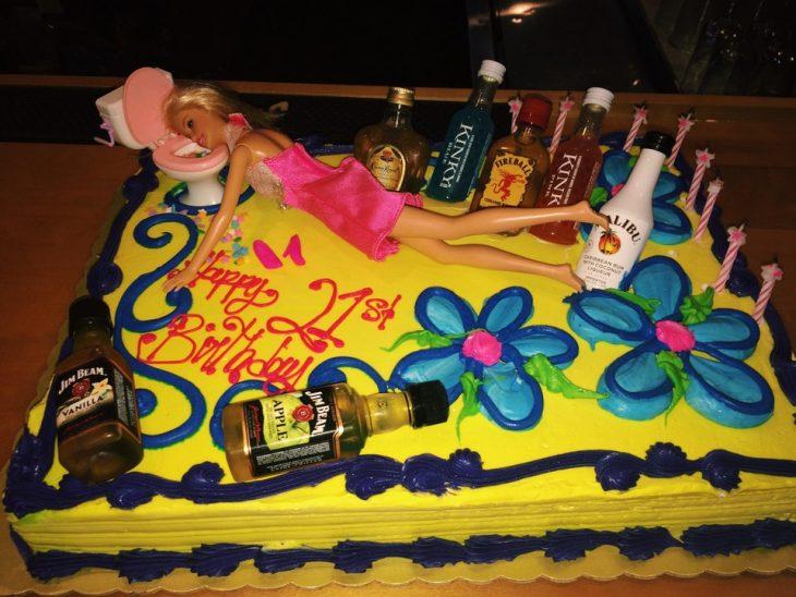 pastel de 21 años