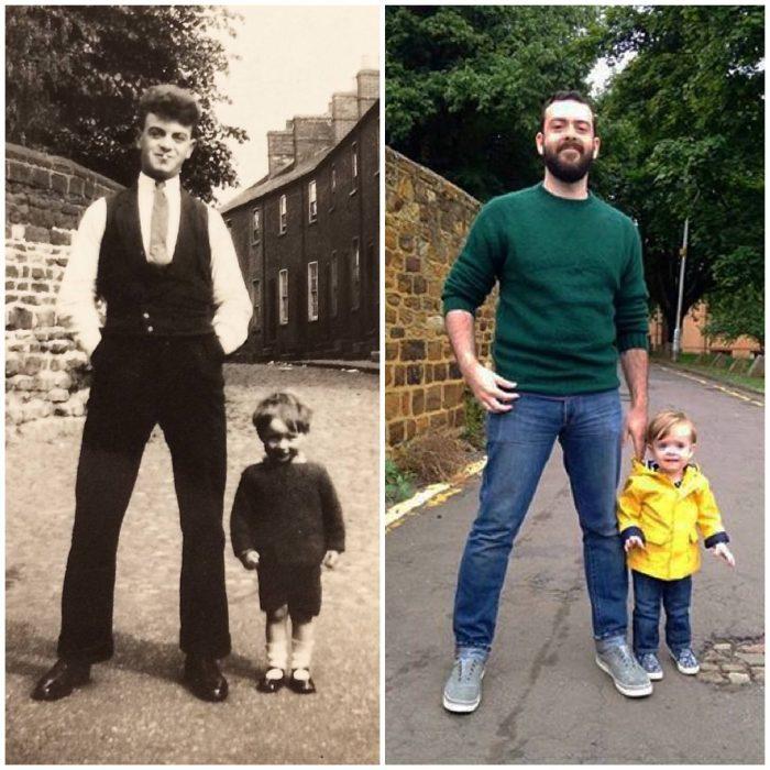 Mi abuelo y mi papá vs. mi hijo y yo; 82 años de diferencia