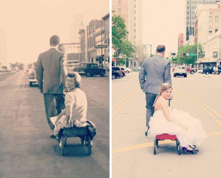 recreación de foto de boda