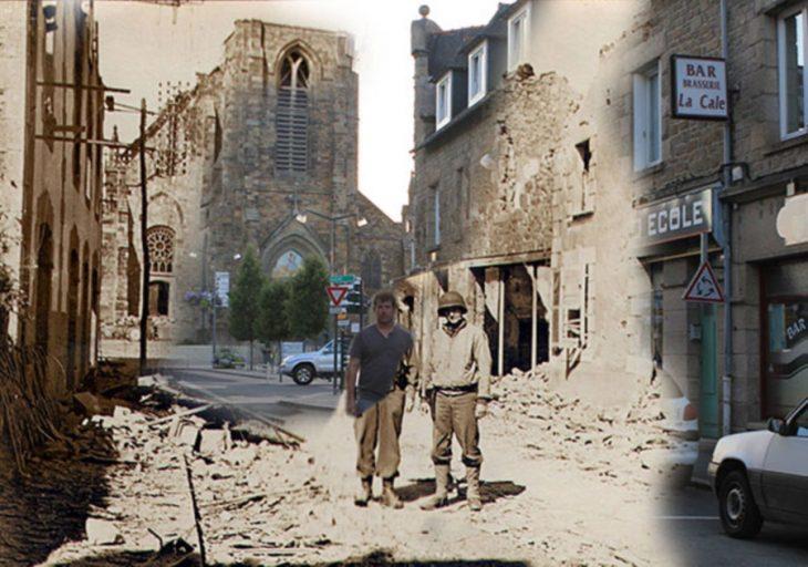 A un lado de mi abuelo en las calles de Francia, 1944 vs. 2013