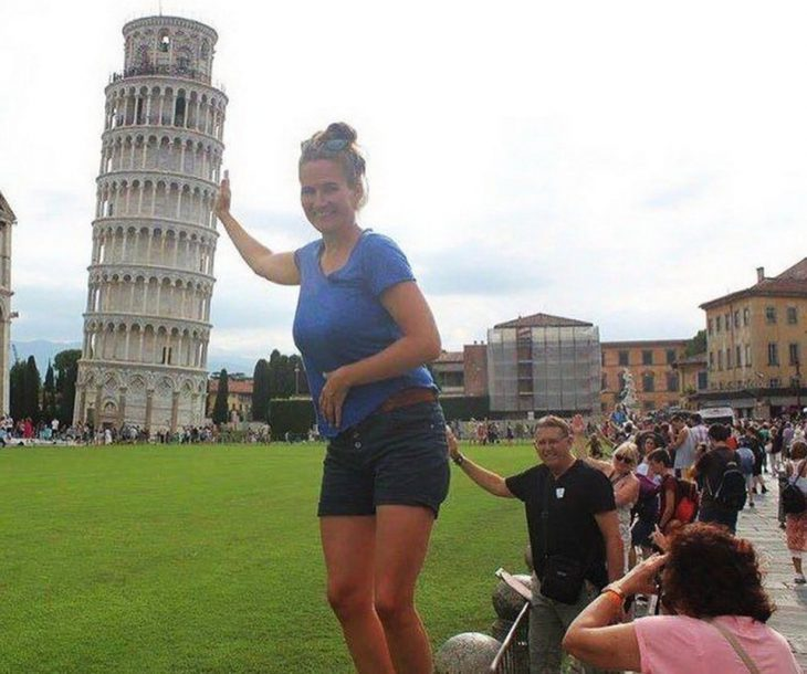 foto en la torre de pizza