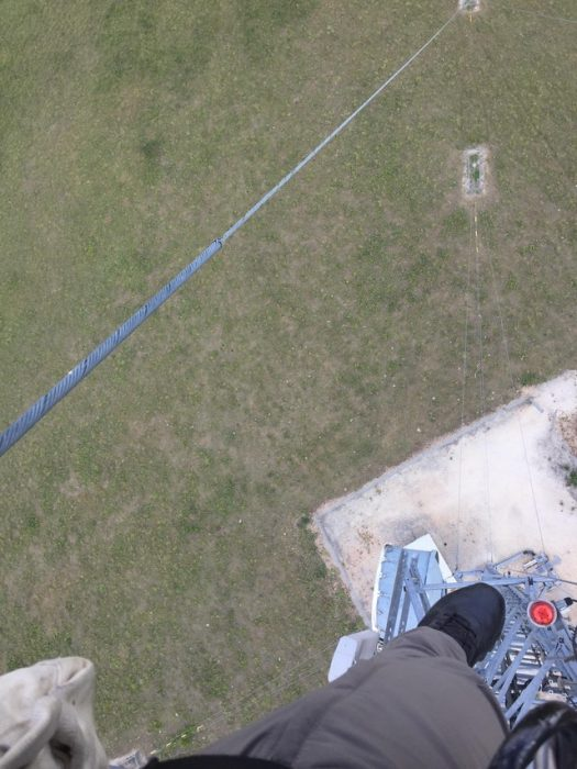 Trabajando a 80 metros de altura