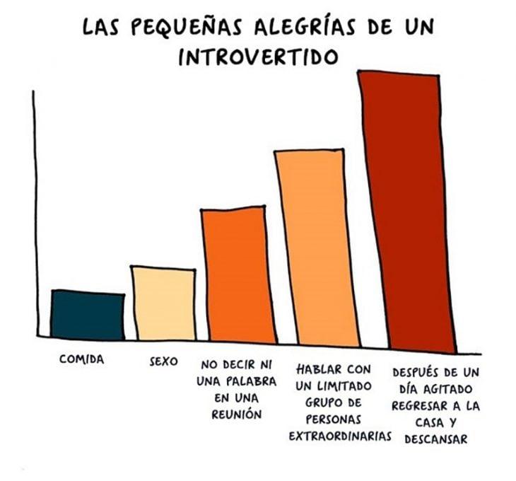 gráfica de introvertido