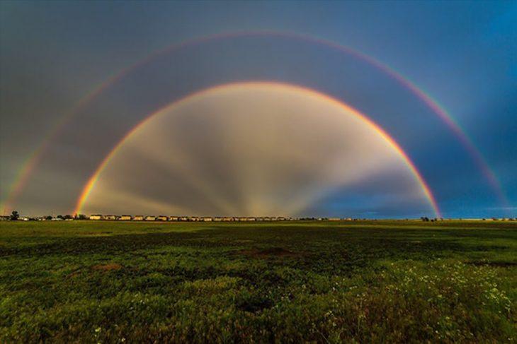 arcoíris alineados