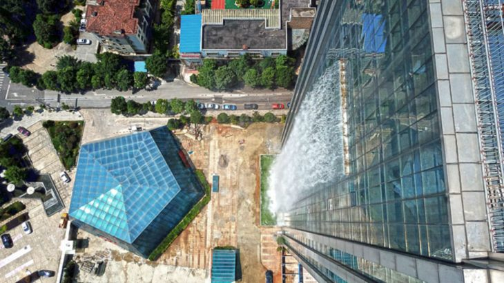 cascada vista desde las alturas