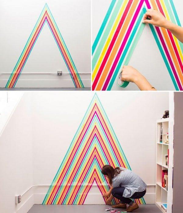 Decora tus paredes con cinta adhesiva