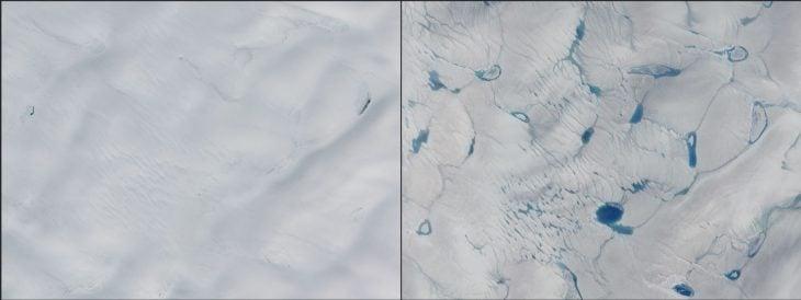 Derretimiento de hielo en Groenlandia: 2014 - 2016