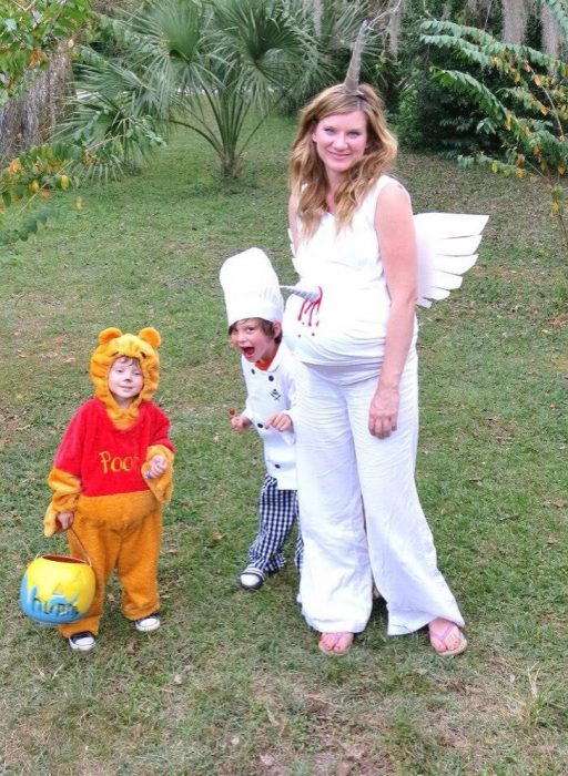 disfraz de unicornio embarazada