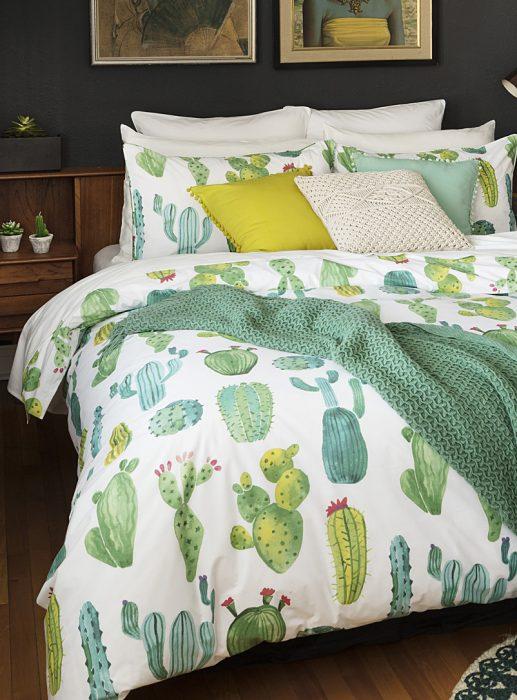 edredón de cactus