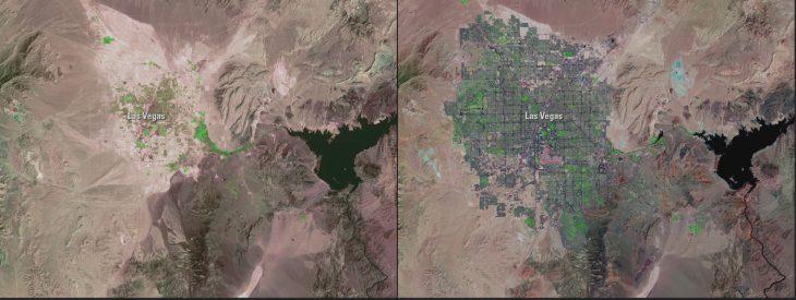 Explosión urbana en Las Vegas, Nevada: 1972 - 2018