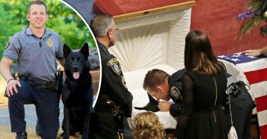 Cover Policía de 4 patas recibe los máximos honores