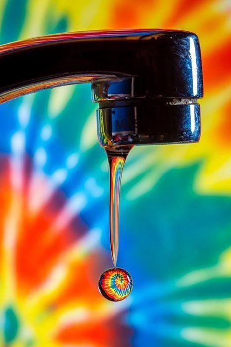 reflejo en gota de agua