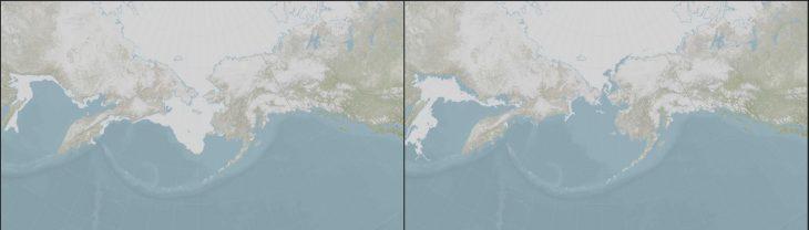El hielo en el Mar de Bering llegó a su extremo más bajo