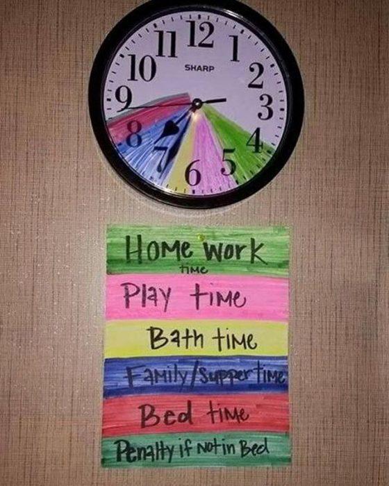 organizar horario