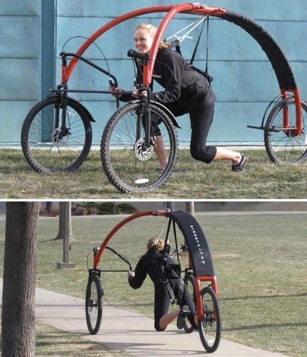 bicicleta de diseño raro