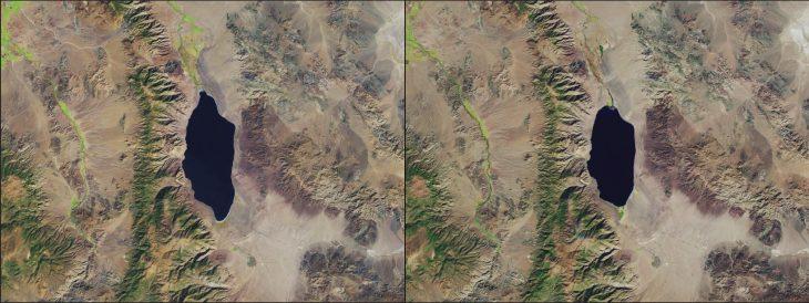 El lago Walker de Nevada se ha vuelto más pequeño y salado: 1988 - 2017